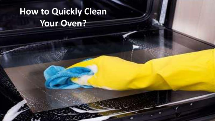 how to quickly clean your oven n.