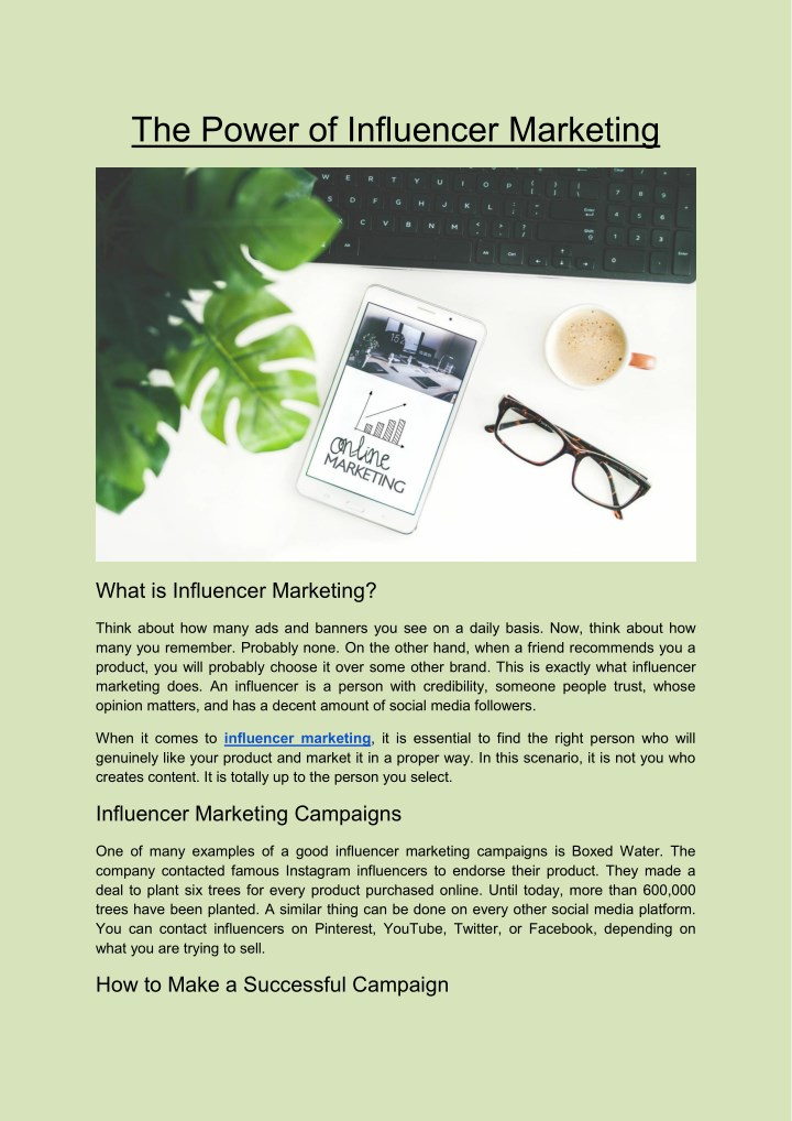 the power of influencer marketing n.