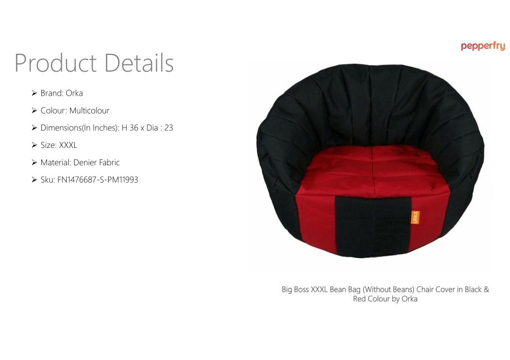 Terrific Ppt Big Boss Xxxl Bean Bag Without Beans Chair Cover In Machost Co Dining Chair Design Ideas Machostcouk