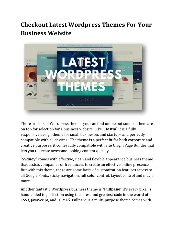 checkout latest wordpress themes for your n.
