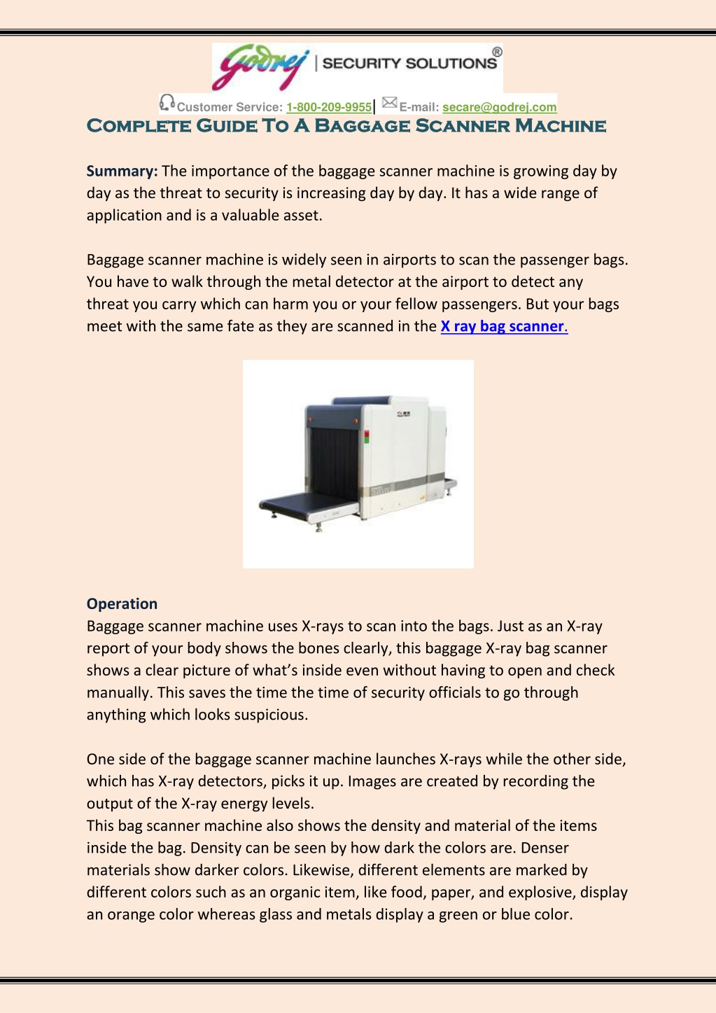 PPT - Complete Guide To A Baggage Scanner Machine PowerPoint