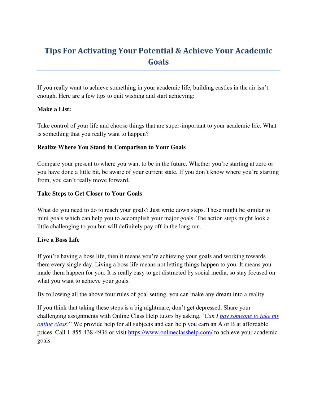 Ppt Tips For Activating Your Potential Achieve Your Academic