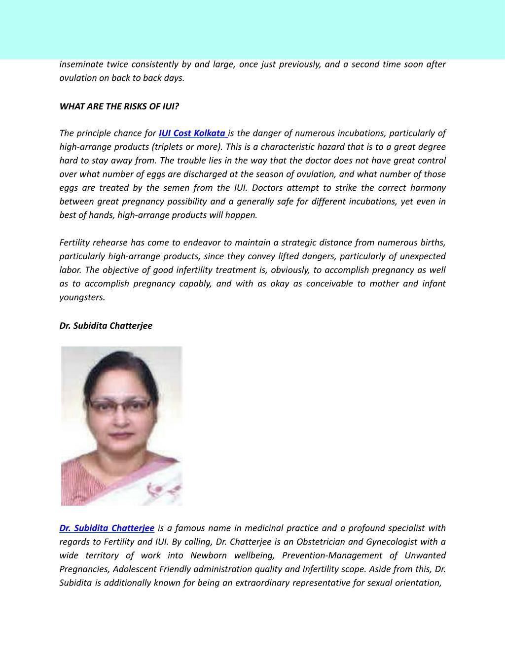 PPT - IUI Cost Kolkata | IUI Treatment | ElaWoman PowerPoint
