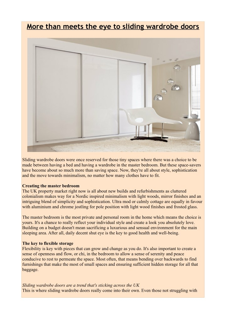 Ppt More Than Meets The Eye To Sliding Wardrobe Doors Powerpoint