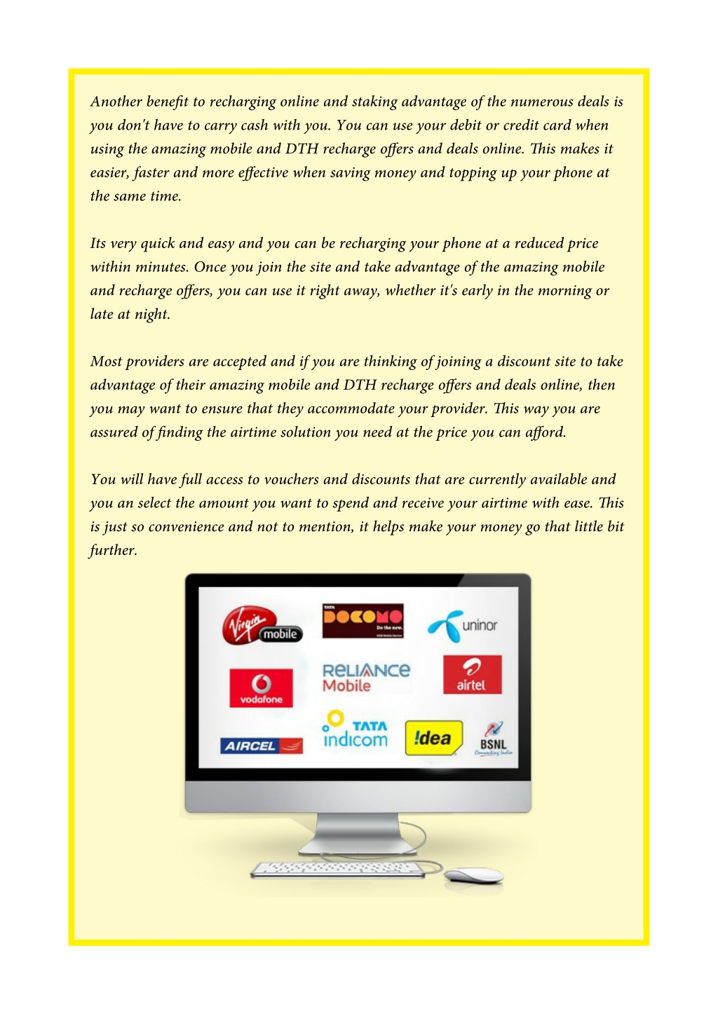 PPT - Benefits of Taking Advantages of Mobile and DTH