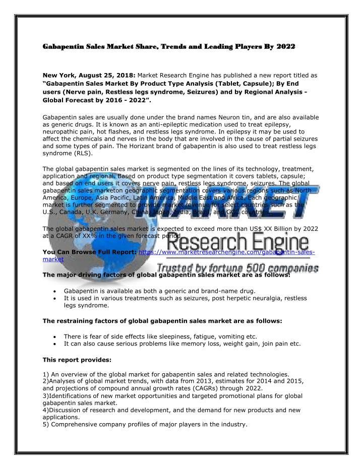 gabapentin sales market share trends and leading n.