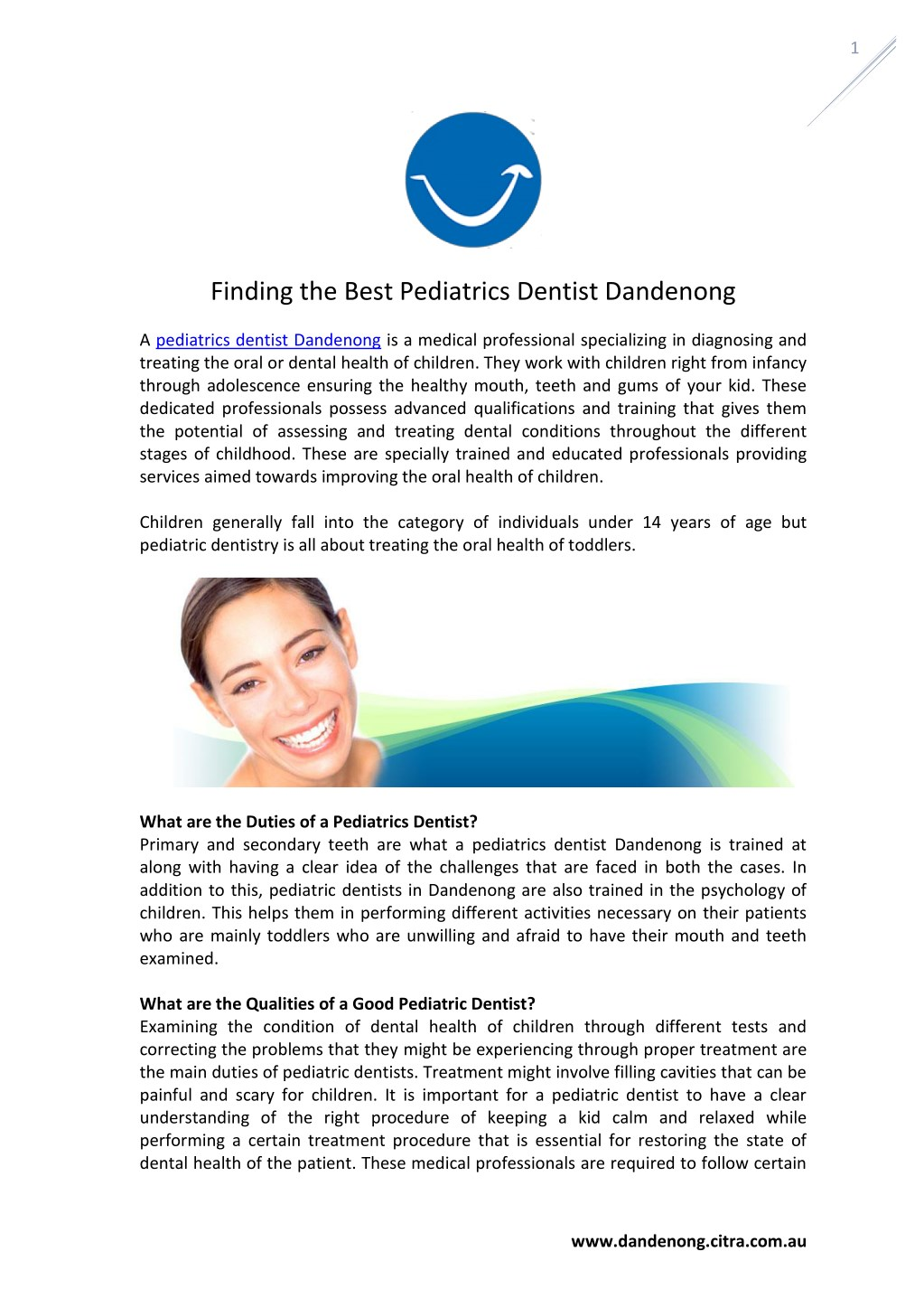 PPT - Finding the Best Pediatrics Dentist Dandenong