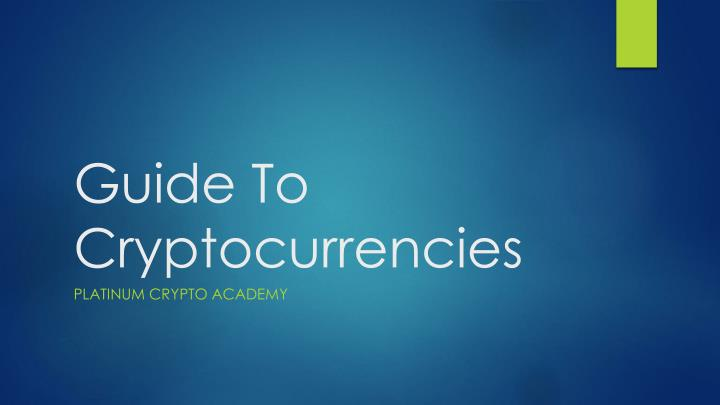 guide to cryptocurrencies n.