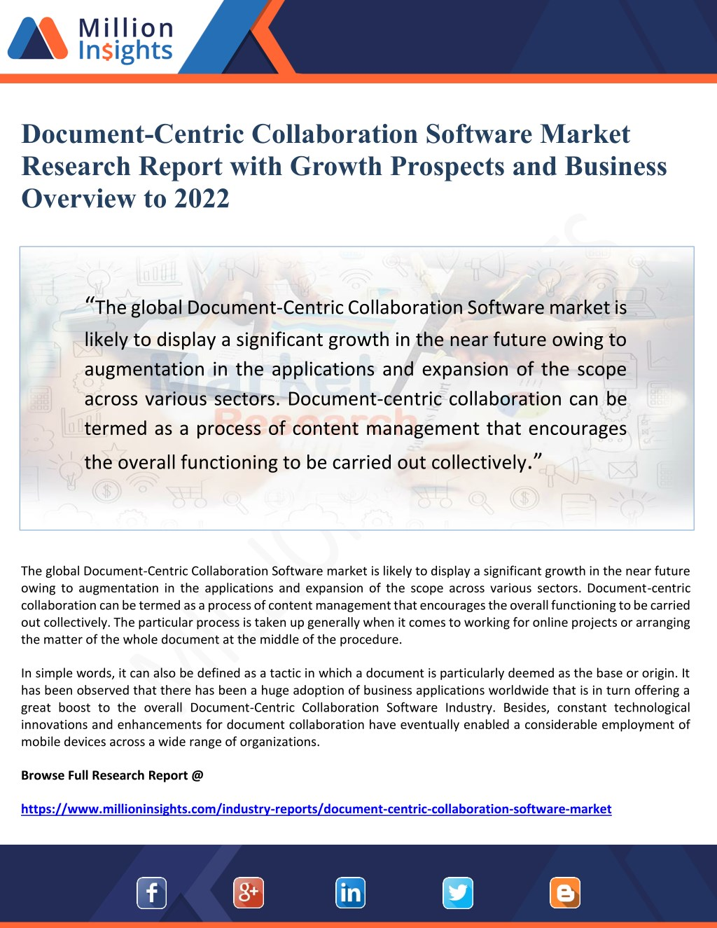 ppt document centric collaboration software market research report