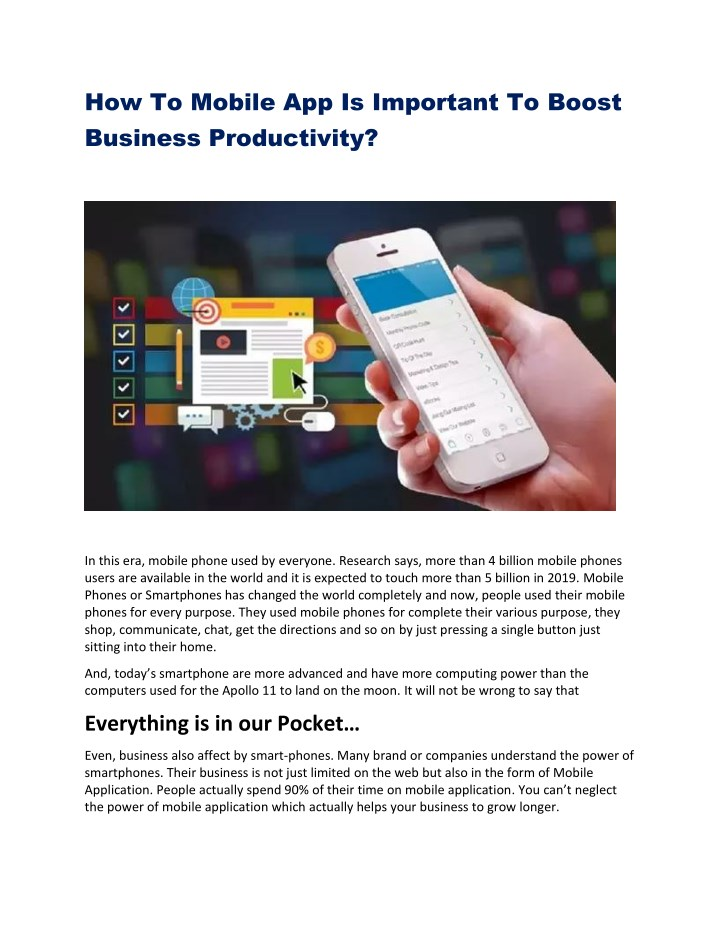 Ppt How To Mobile App Is Important To Boost Business Productivity Powerpoint Presentation Id 7986140