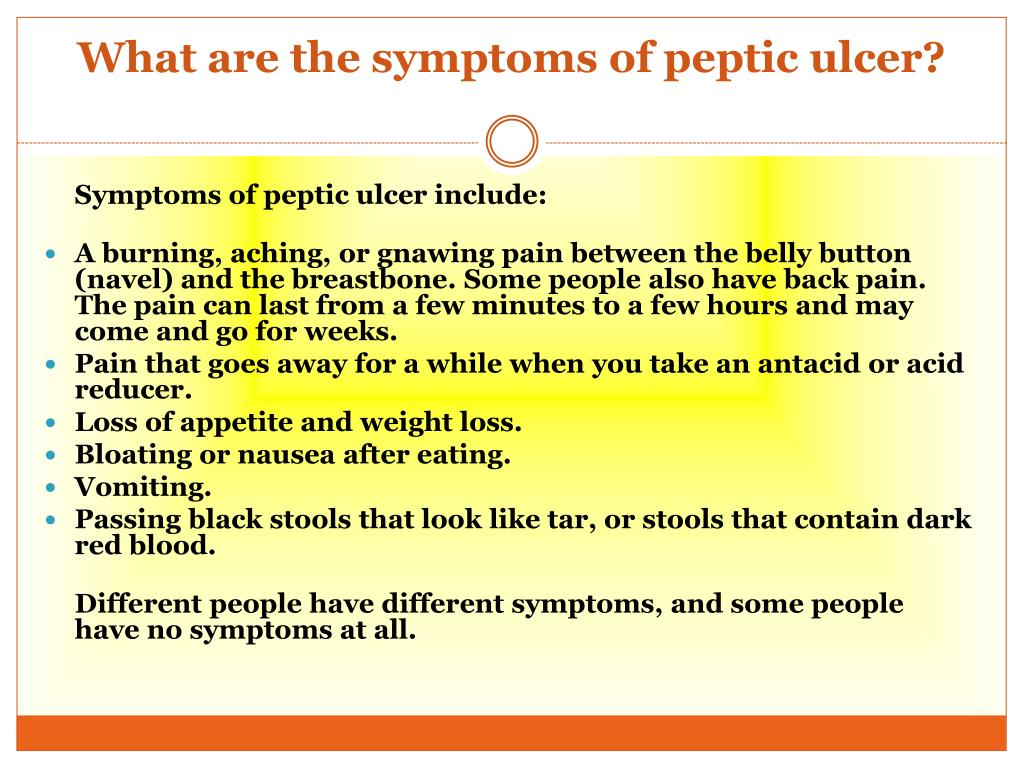 Ppt Peptic Ulcer Causes Symptoms Daignosis