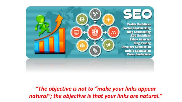 the objective is not to make your links appear n.