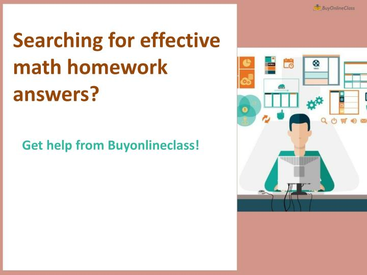 searching for effective math homework answers n.