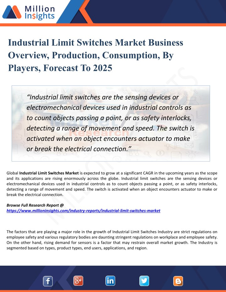 industrial limit switches market business n.