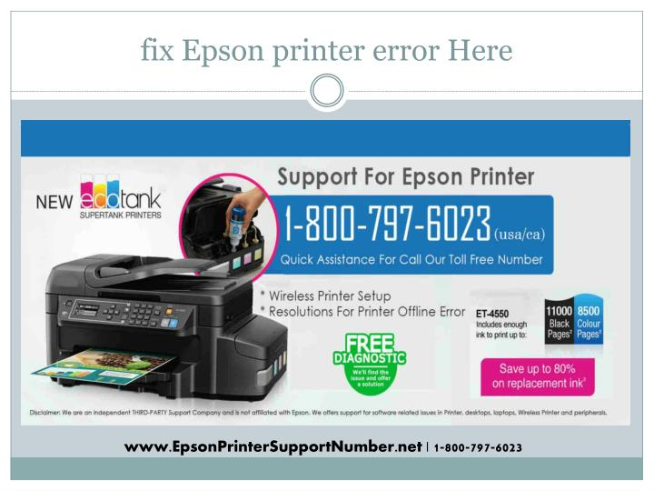 PPT - Epson printer support phone number 1-800-797-6023 Customer