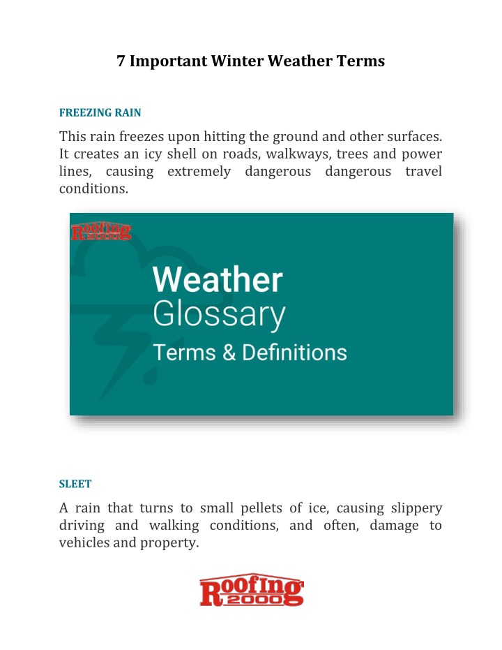 7 important winter weather terms n.