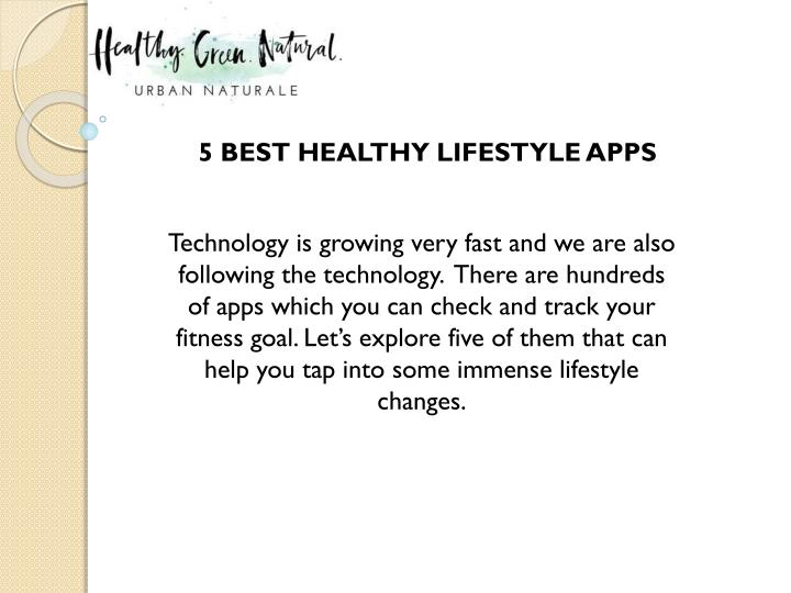 5 best healthy lifestyle apps n.