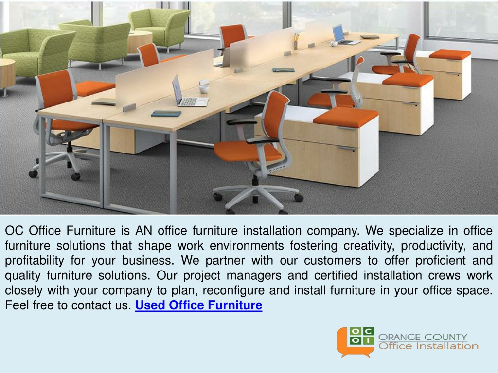 Ppt How To Reconfigure And Install Furniture In Office