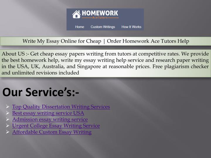 Ppt  Top Quality Dissertation Writing Services Powerpoint  Write My Essay Online For Cheap  Order Homework Ace Tutors Help