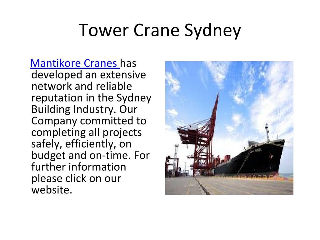 PPT - Self-Erecting Crane Sydney PowerPoint Presentation