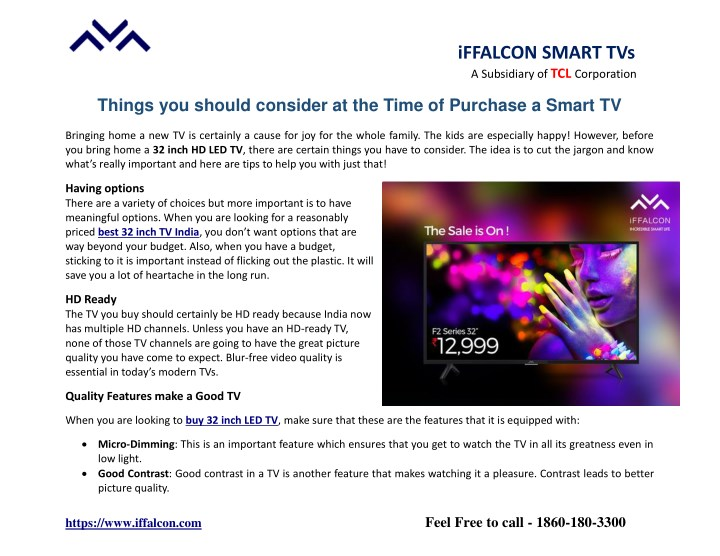 PPT - Things you Should Consider at the Time of Purchase a Smart TV