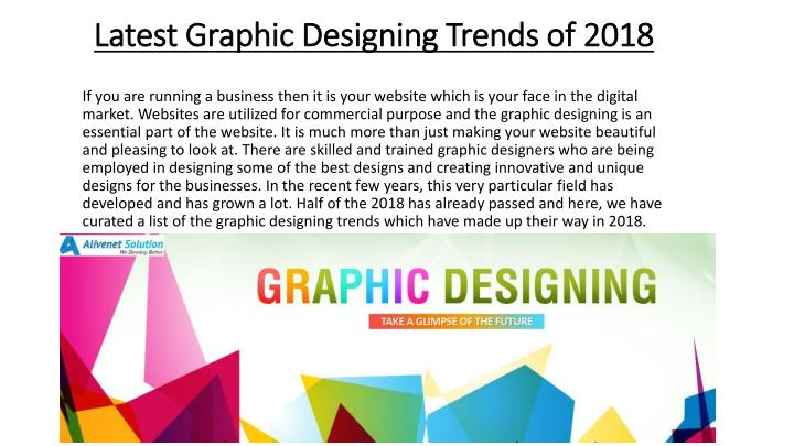 latest graphic designing trends of 2018 n.