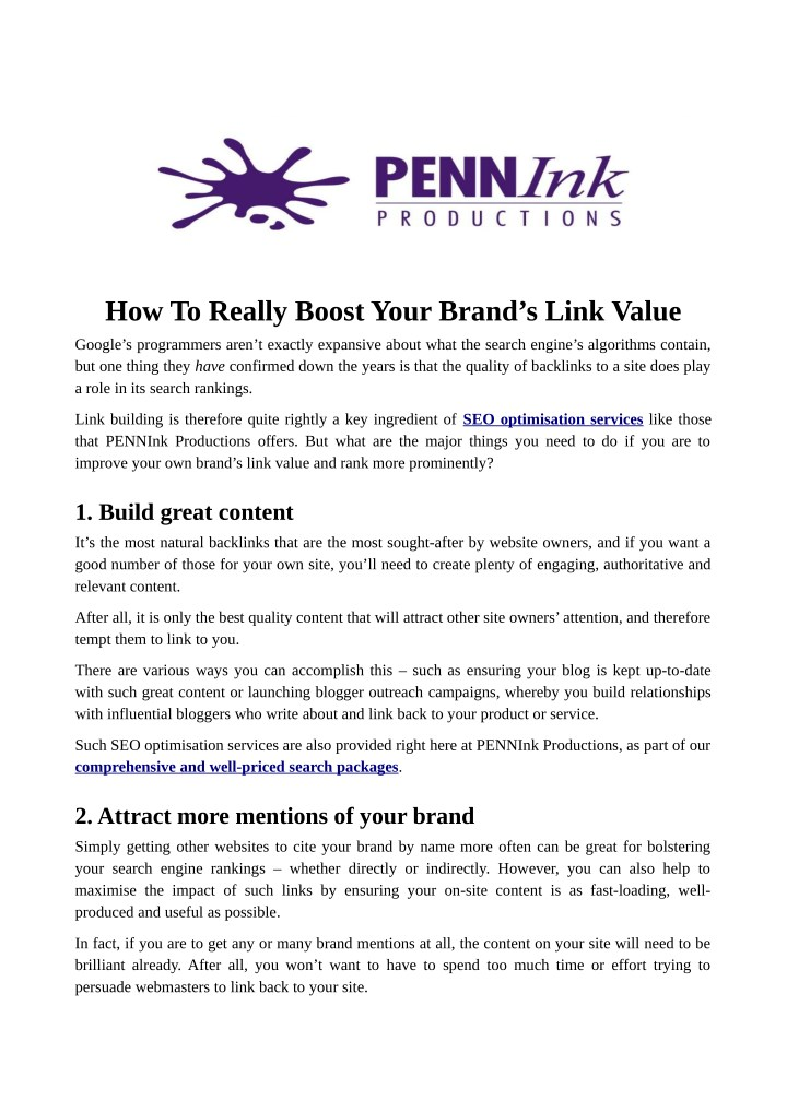 how to really boost your brand s link value n.