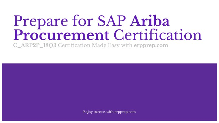 PPT - How to Prepare for SAP Ariba Procurement Certification