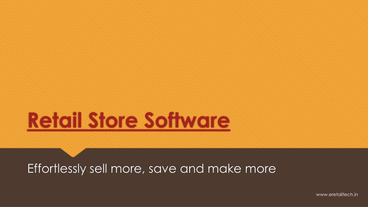 retail store software n.