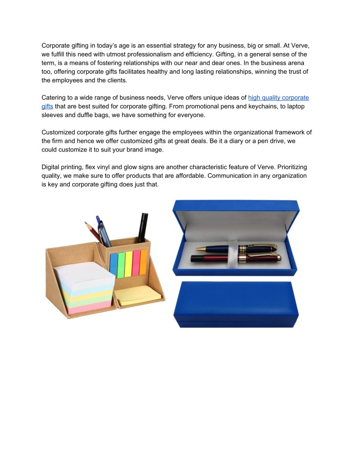 PPT - Corporate gifting is an essential strategy | Corporate Gifts