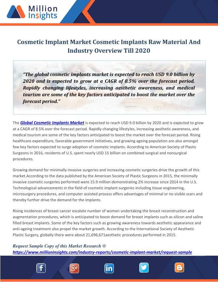 cosmetic implant market cosmetic implants n.