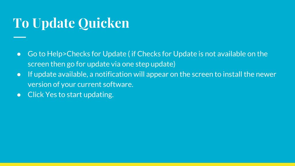 PPT - Upgrade to a never version of Quicken for Windows
