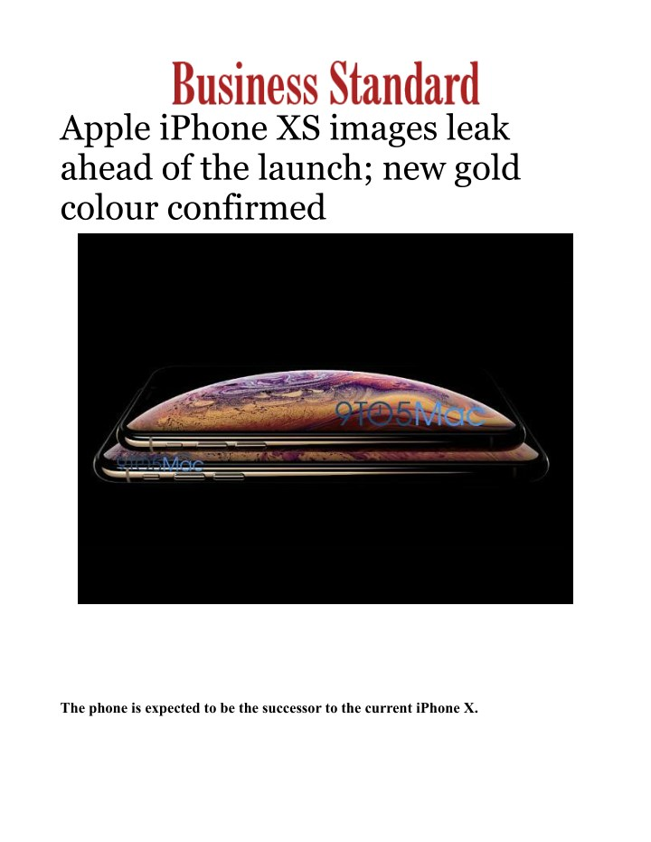 apple iphone xs images leak ahead of the launch n.