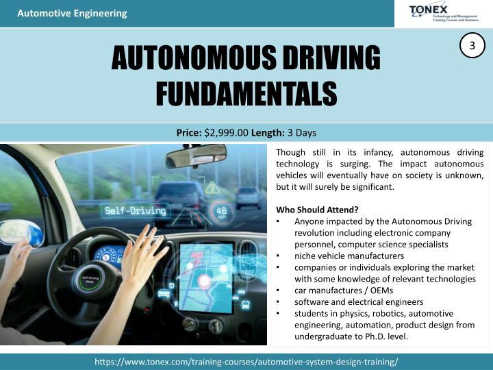 Ppt Automotive Engineering Systems Engineering Training Tonex