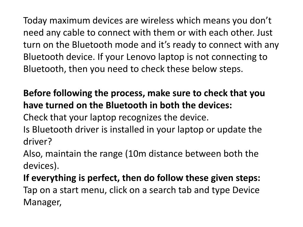PPT - How Enable The Bluetooth In Lenovo Laptops PowerPoint