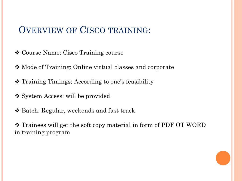 PPT - Cisco training | Cisco CCNA CCNP certifications online