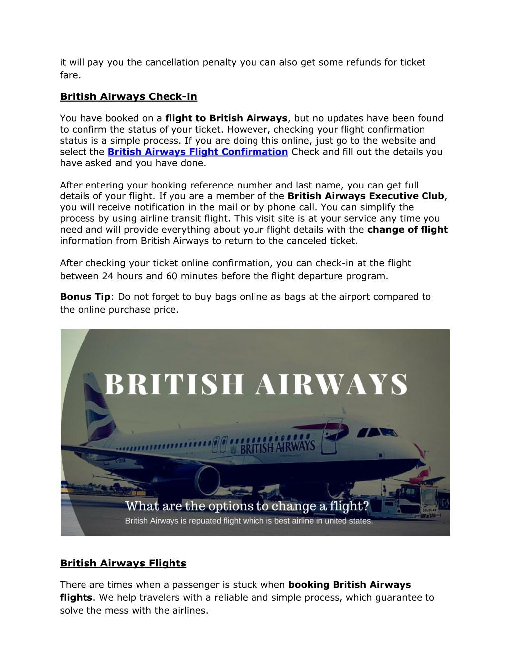 PPT - British Airways Check-In - Airline Flight Support PowerPoint