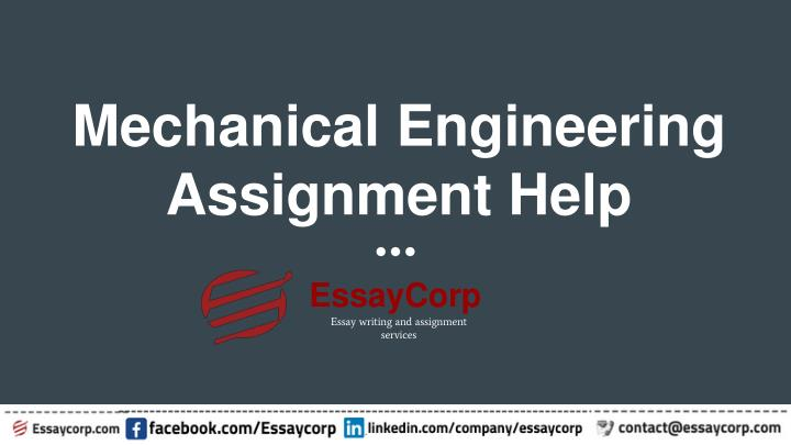 mechanical engineering assignment help n.