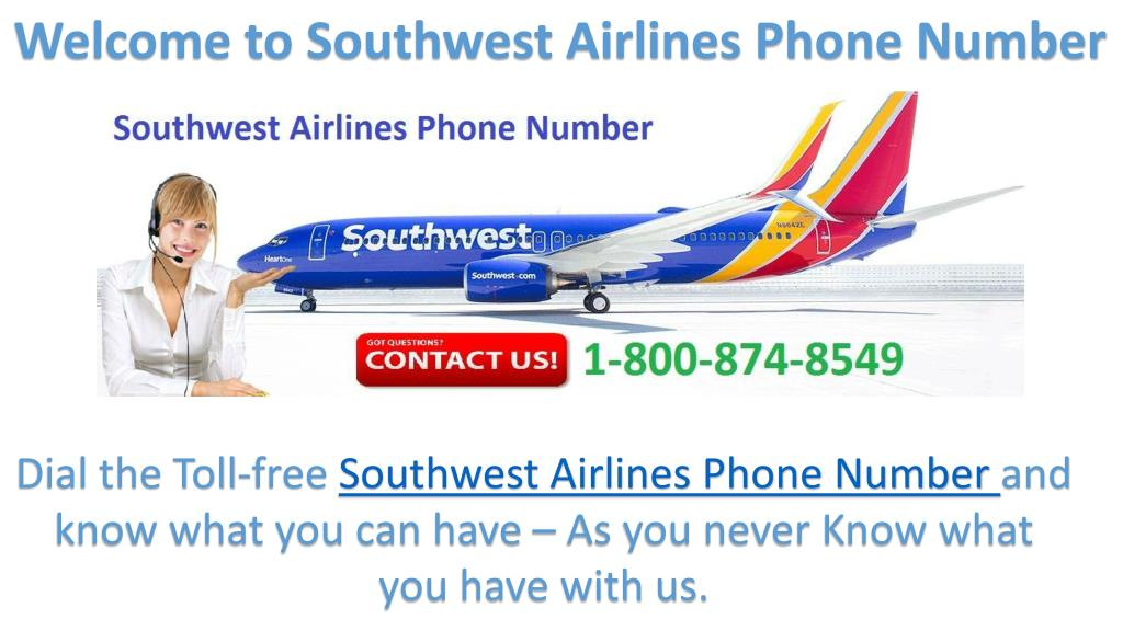 welcome to southwest airlines phone number n download - Southwest Airlines Ppt Template Free Download