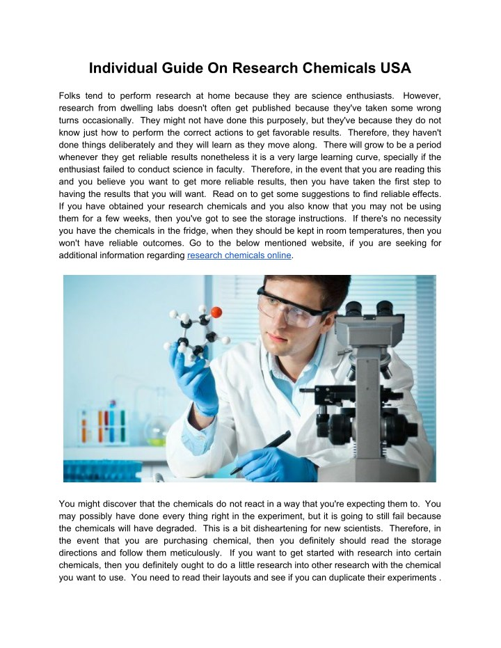 individual guide on research chemicals usa folks n.