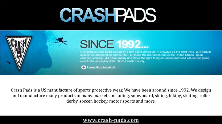 crash pads is a us manufacture of sports n.