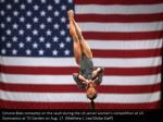 simone biles competes on the vault during