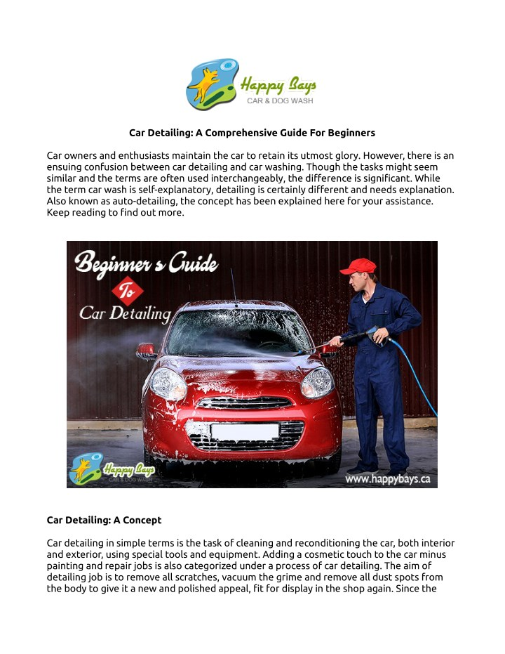 car detailing a comprehensive guide for beginners n.