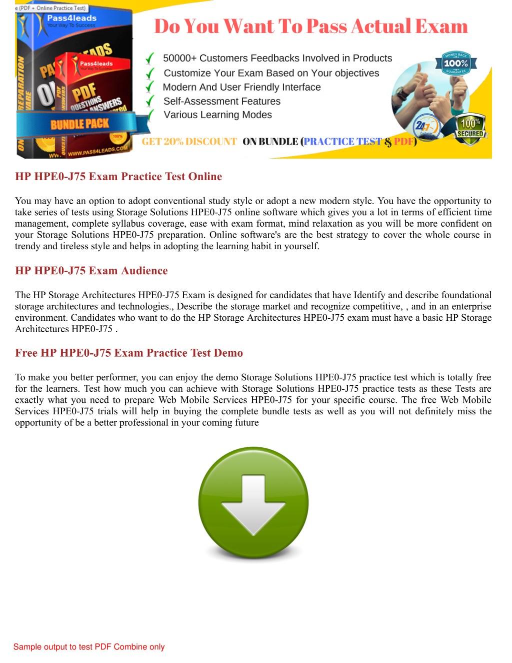 PPT - HPE0-J75 HP Braindumps with Actual HPE0-J75 PDF Dumps