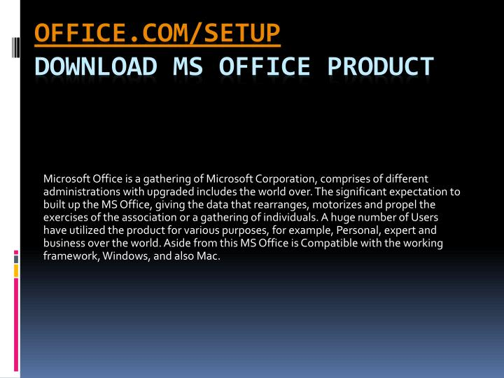 latest ms office setup download