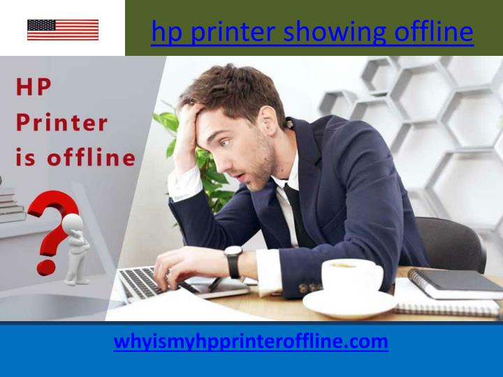 hp printer showing offline n.