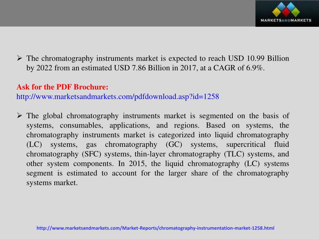 PPT - Chromatography Instruments Market worth 10 99 Billion
