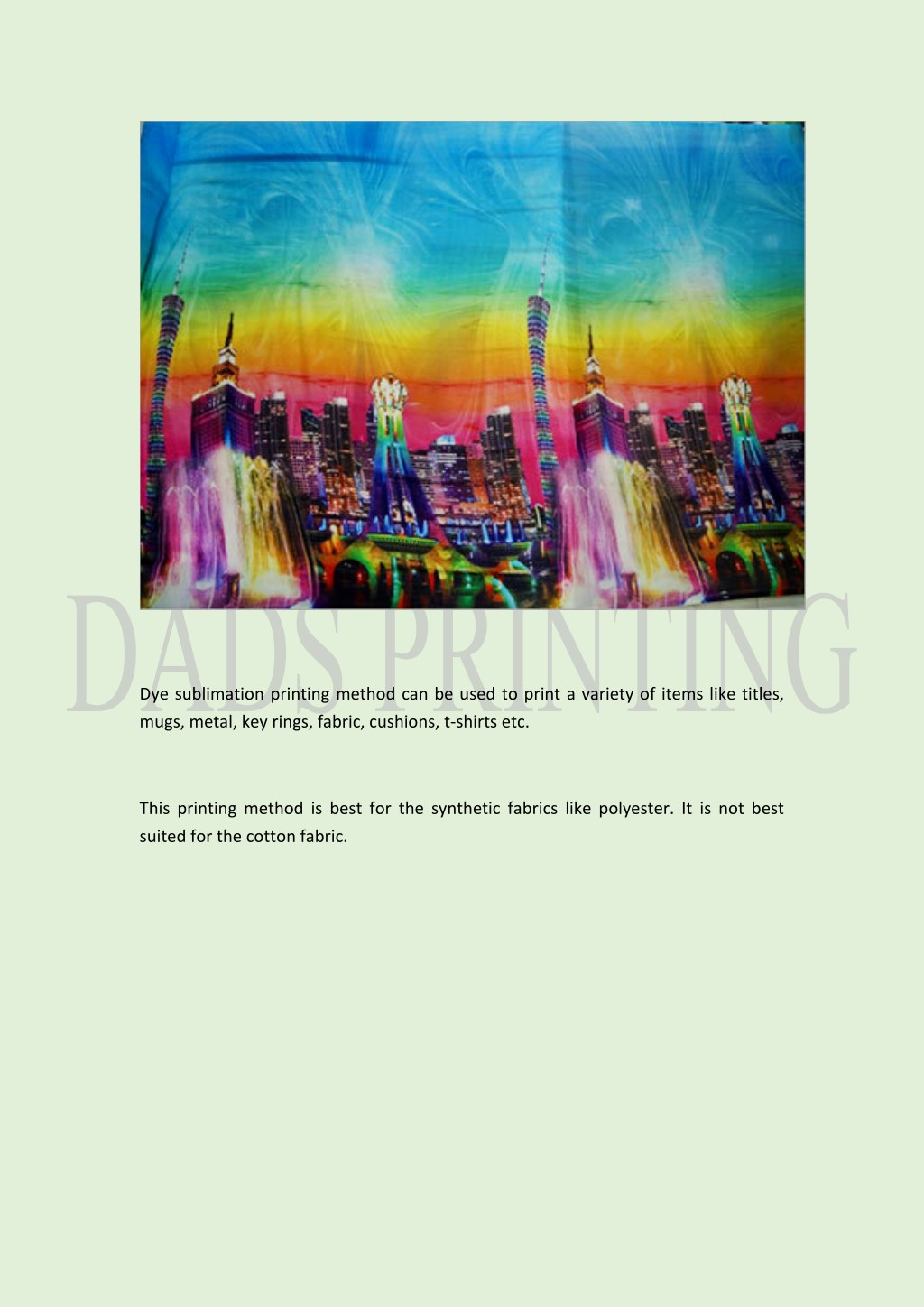 PPT - How Dye Sublimation Printing Provides Benefits To The