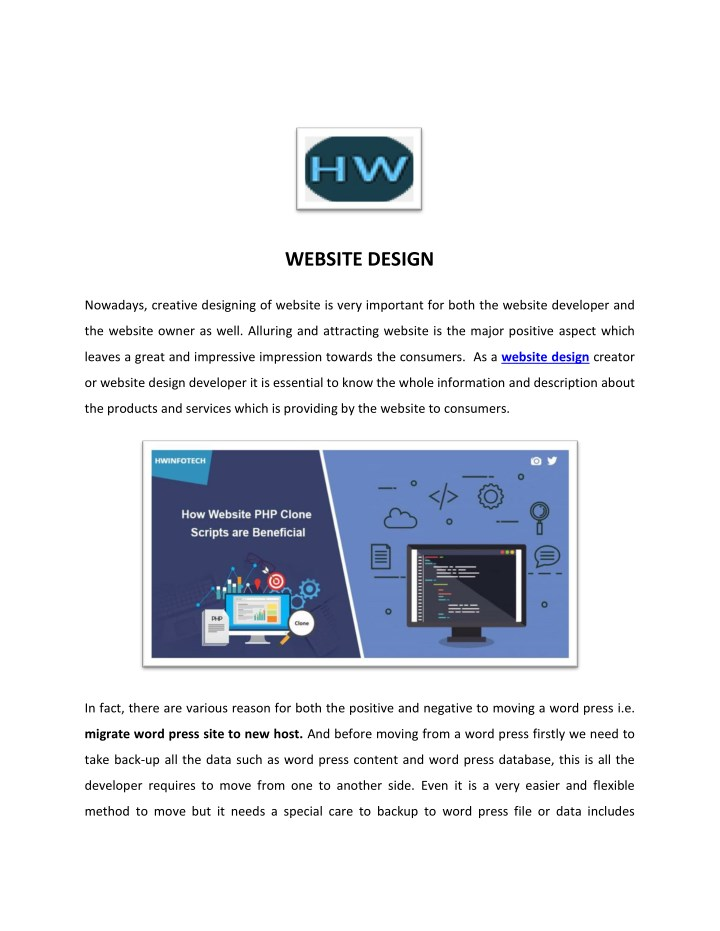 PPT - eCommerce Website Design - HW InfoTech PowerPoint