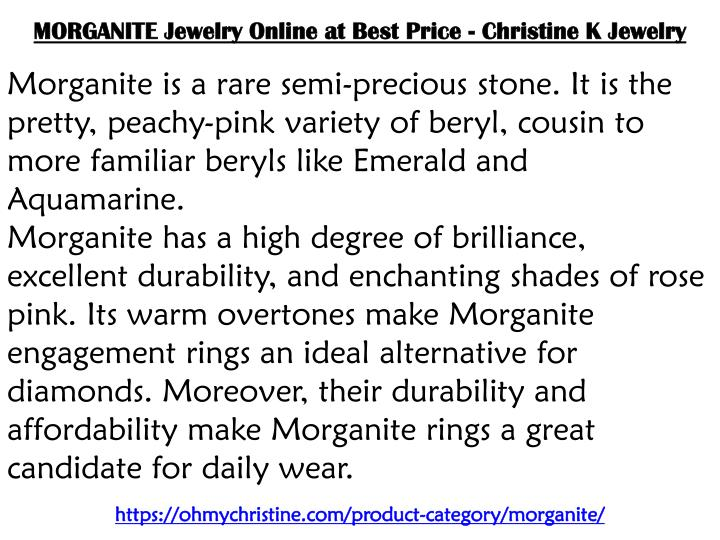 morganite jewelry online at best price christine n.